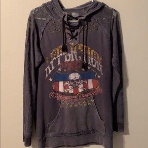 Women's Affliction Hooded sweatshirt